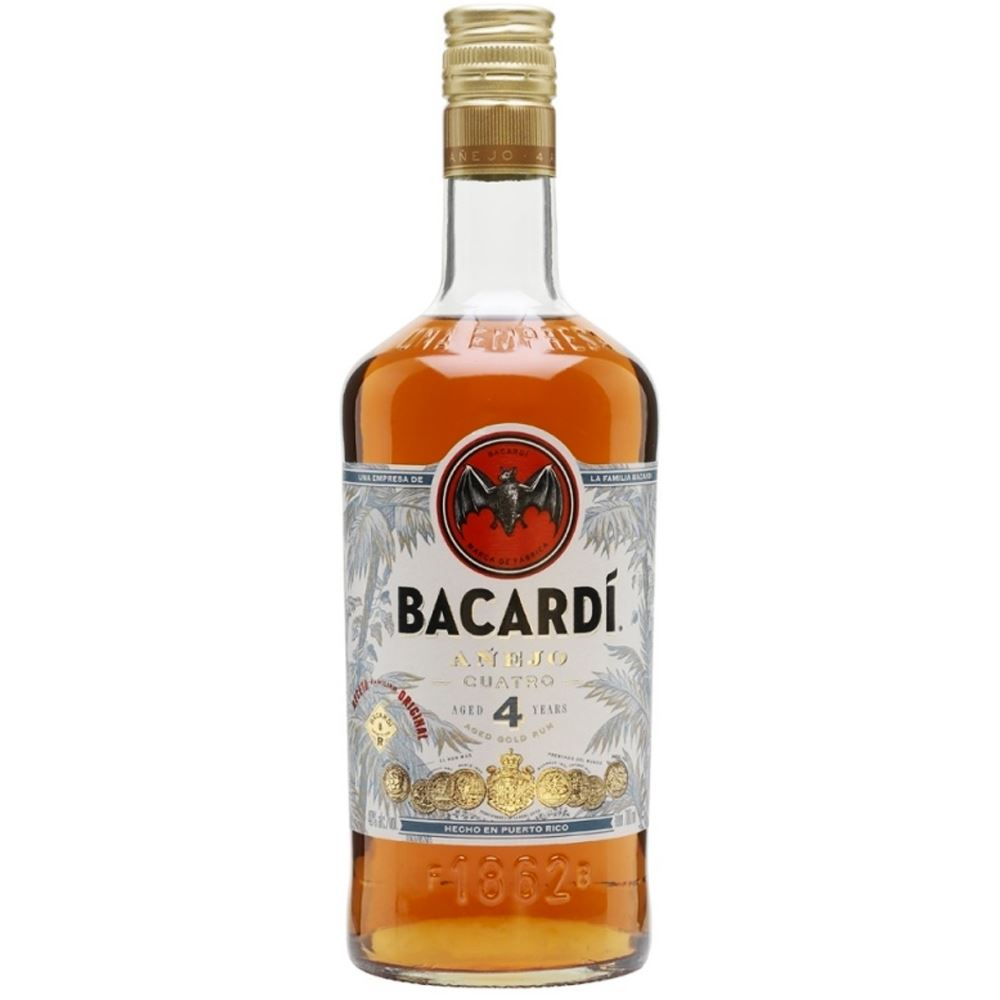 RUM BACARDI CUATRO 4 AÑEJO 70CL 40%