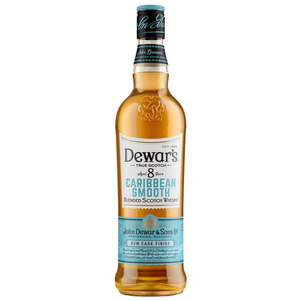 DEWARS 8 YEARS CARIBBEAN SMOOTH WHISKY 70CL 40%