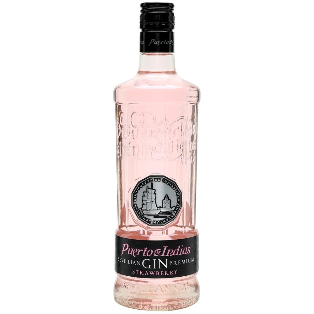 GIN PUERTO DE INDIAS STRAWBERRY 70CL 37.5%