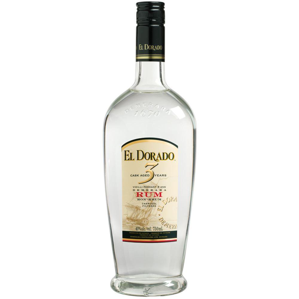 RUM EL DORADO 3 ANOS WHITE 70CL