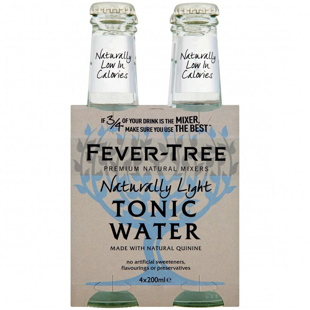 ÁGUA TÓNICA FEVER TREE NATURALLY LIGHT 4 X 20CL