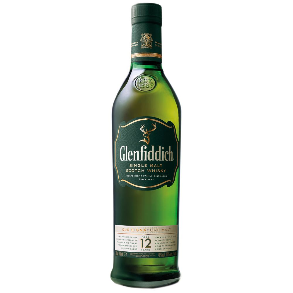 WHISKY SINGLE MALT GLENFIDDICH 12 ANOS ESCÓCIA 70CL