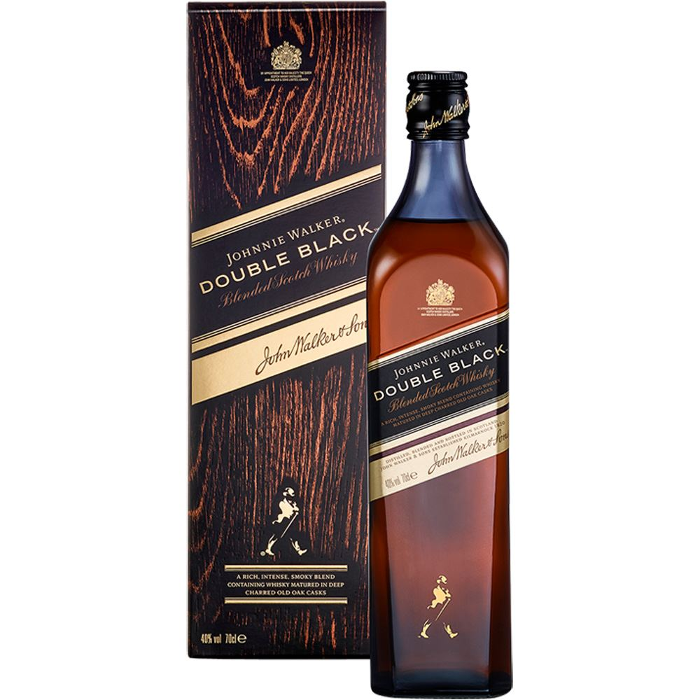 WHISKY BLENDED JOHNNIE WALKER DOUBLE BLACK ESCÓCIA 70CL