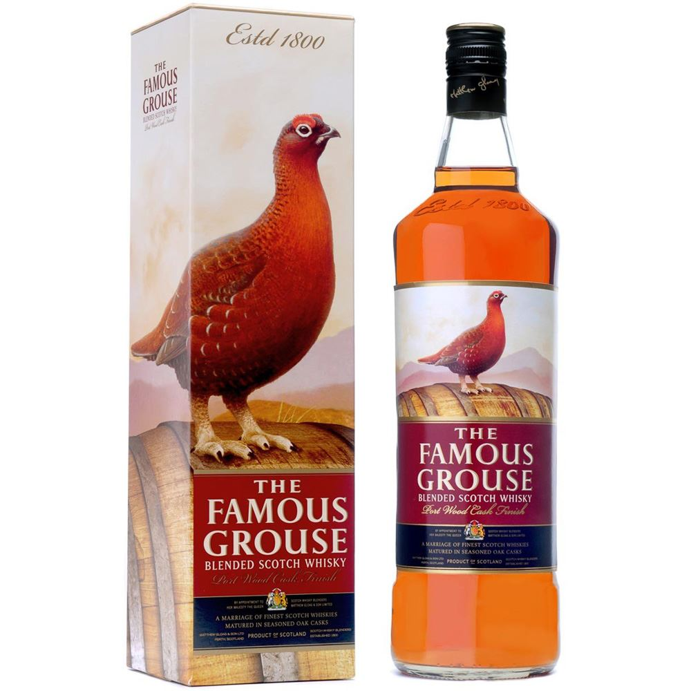 WHISKY BLENDED FAMOUS GROUSE PORT WOOD FINISH ESCÓCIA 70CL