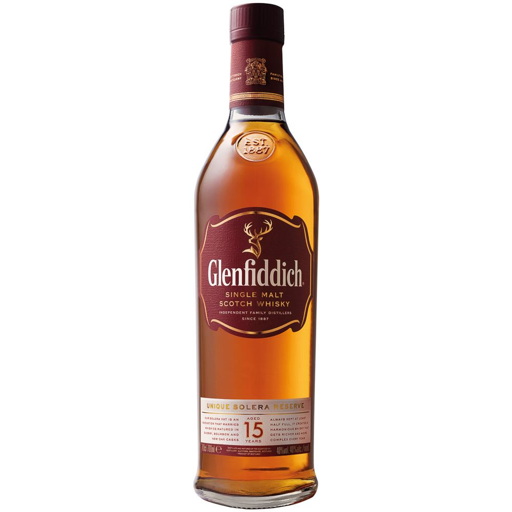 WHISKY SINGLE MALT GLENFIDDICH 15 ANOS ESCÓCIA 70CL