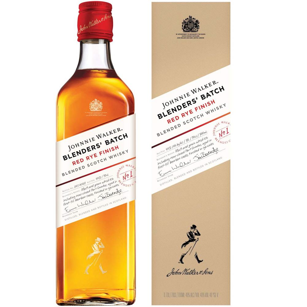 WHISKY BLENDED JOHNNIE WALKER RED RYE FINISH ESCÓCIA 70CL