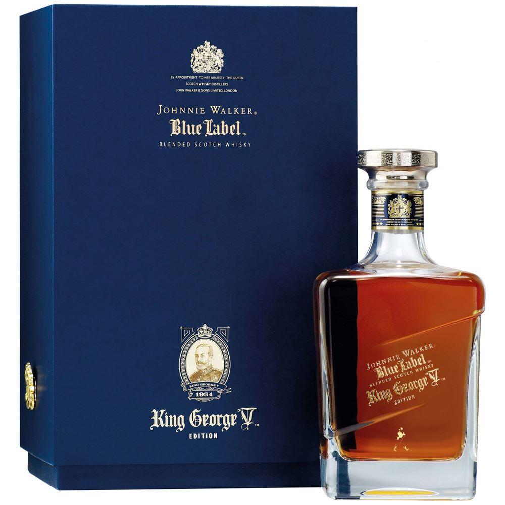 WHISKY BLENDED JOHNNIE WALKER BLUE LABEL KING GEORGE V ESCÓCIA 70CL
