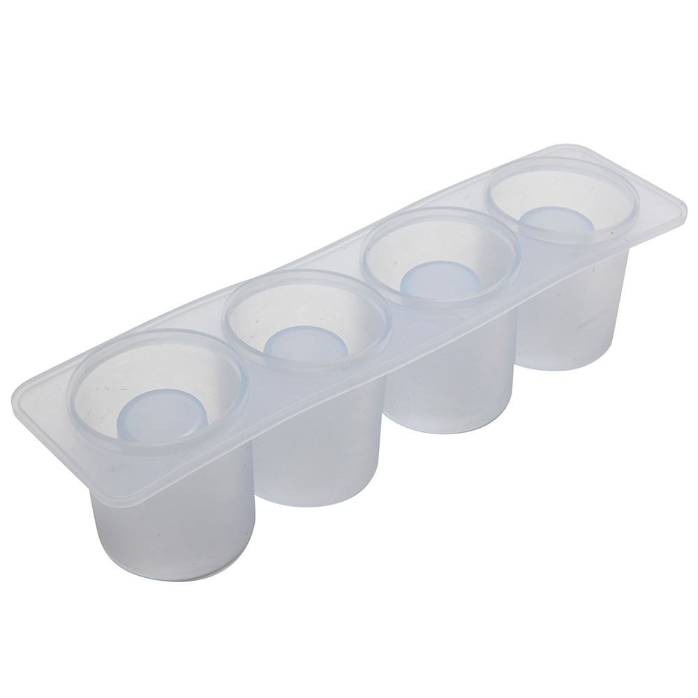4 ICE SHOT GLASS SILICON MOULD