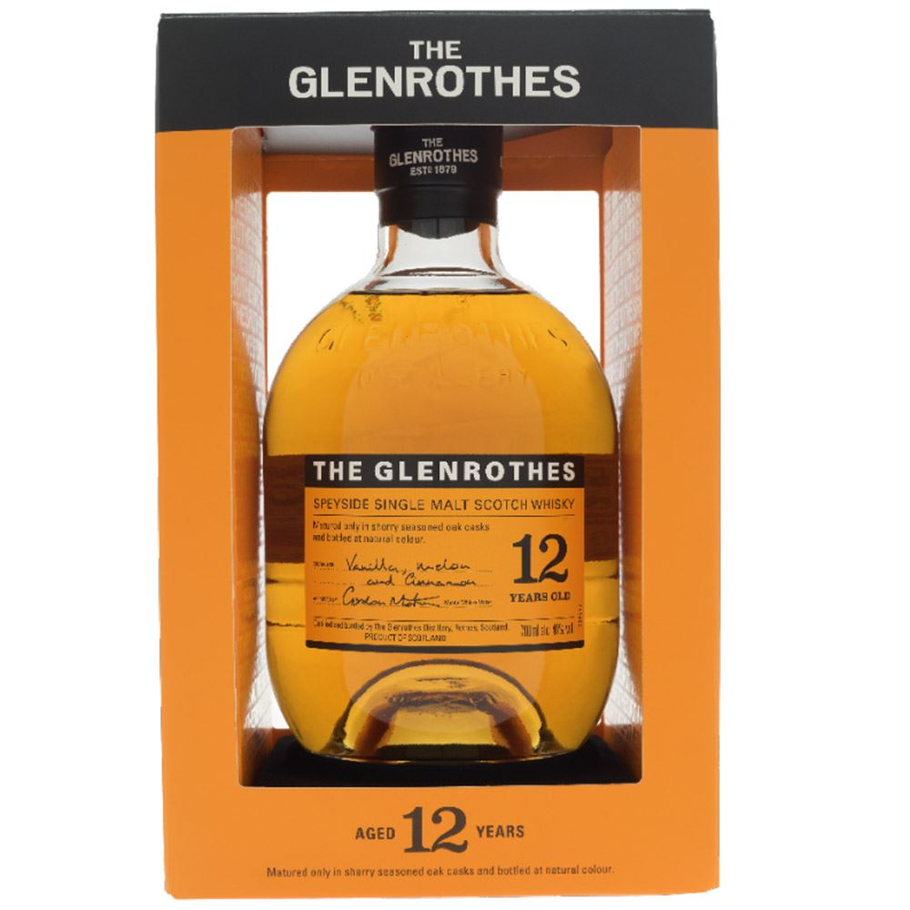 WHISKY GLENROTHES 12 ANOS 40% 70CL